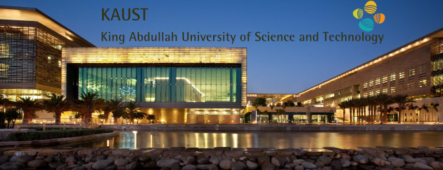 KAUST library at night